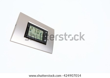 air conditioning system control unit - stock photo