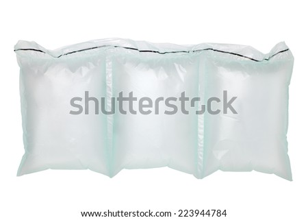 Air cushion bag of packaging isolated on white - stock photo