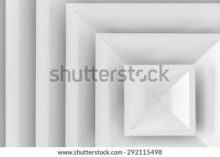 Air duct in square shape - stock photo