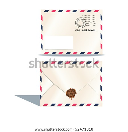 Air envelope. - stock photo