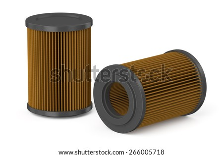 air filter for car isolated on white background - stock photo