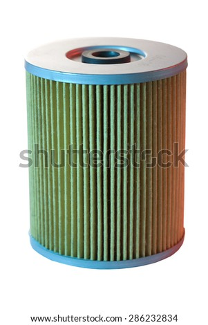 air filter in color light - stock photo