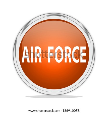 Air Force icon - stock photo