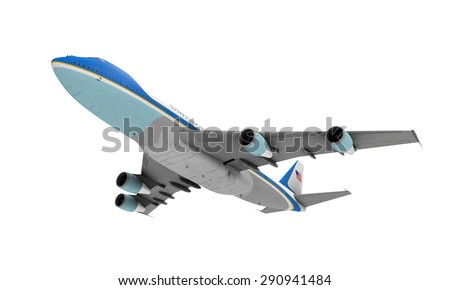 Air Force One Isolated - stock photo