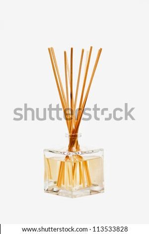 air freshener sticks isolated on white background - stock photo