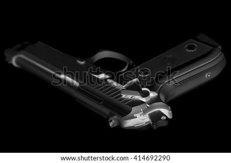 air gun inverted black - stock photo