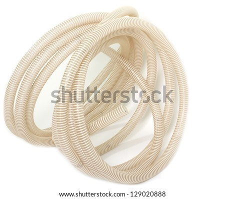 air hose for pressure or vacuum - stock photo