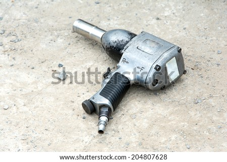 air impact wrench - stock photo