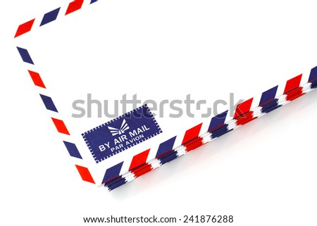 air mail envelope isolated background - stock photo