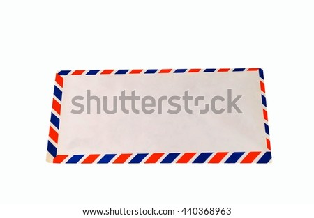 air mail on white background