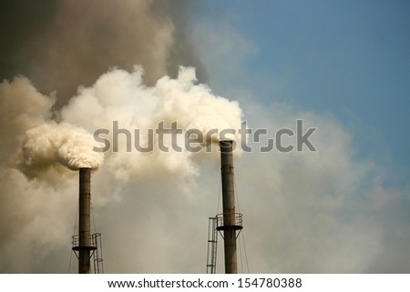 Air pollution - stock photo