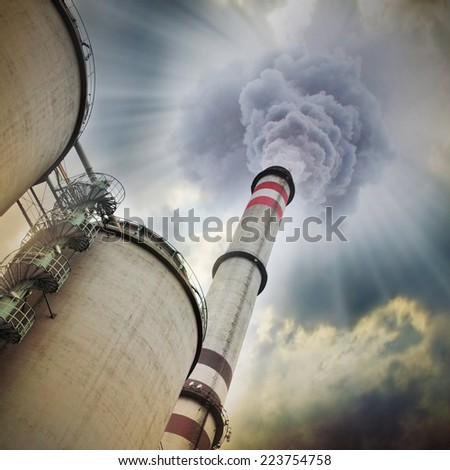 Air pollution.  - stock photo