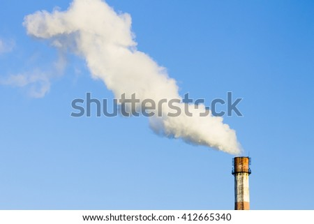 Air pollution and environment of the smoke pipe
