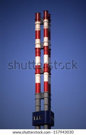 air pollution smokestacks - stock photo