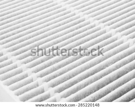 Air purifier filter replacement. - stock photo