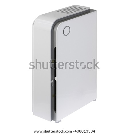 Air purifier isolated on white background
