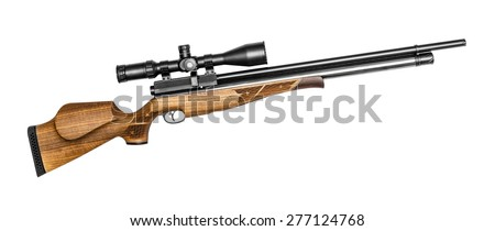 Air rifle isolated on the white - stock photo
