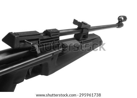 Air rifle isolated on the white background - stock photo