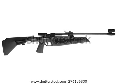 Air rifle isolated on white background - stock photo