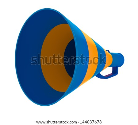 Air shout isolated on white. 3D image. - stock photo