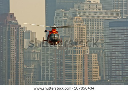 Air show at New York - stock photo