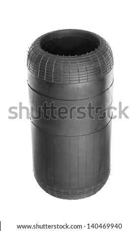 Air spring from the truck. Isolated on white - stock photo