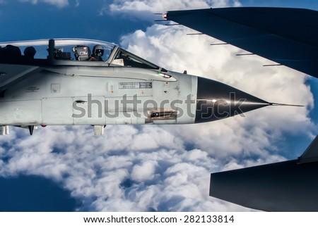 air to air tornado close up - stock photo