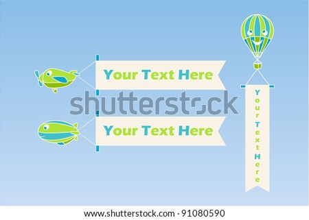 Air transport - stock photo