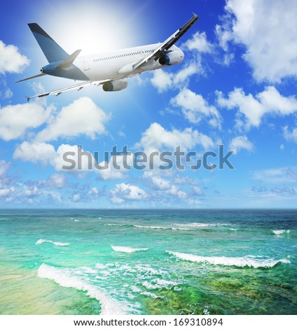 Air travel - stock photo