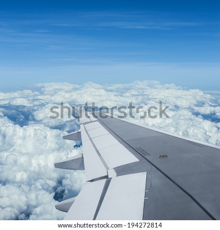 Air travel, square composition - stock photo