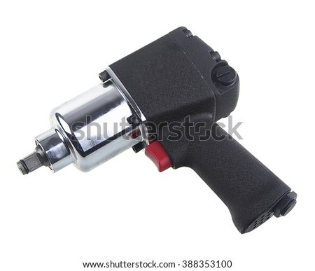 Air wrench with black handle - stock photo