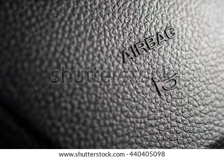 airbag on the front of the car