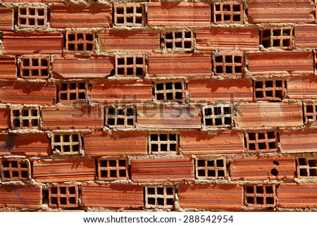 Airbrick brick brickwall texture wall pattern background - stock photo