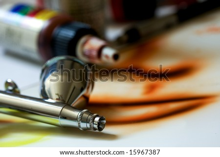 Airbrush, Painting and Paint - stock photo