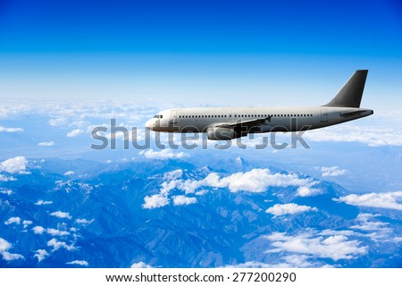 Airbus in the sky - stock photo