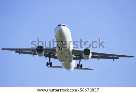 Airbus plane landing - stock photo