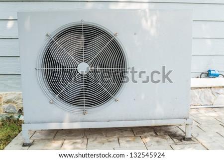 Aircondition compressor - stock photo