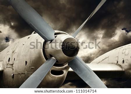 Aircraft engine - stock photo