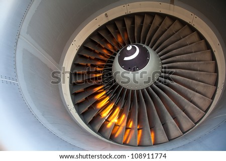 Aircraft engine - close up