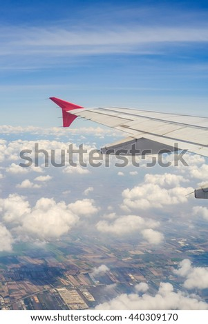 Aircraft flying in the sky