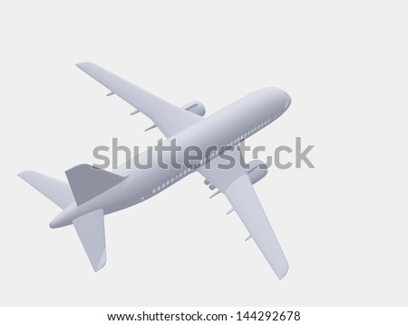 Aircraft in white - stock photo