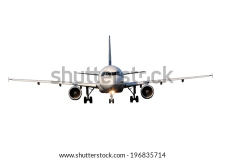 Aircraft isolated on white background - stock photo