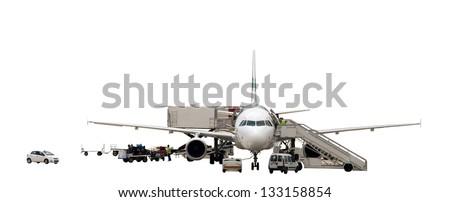 Aircraft maintenance - stock photo