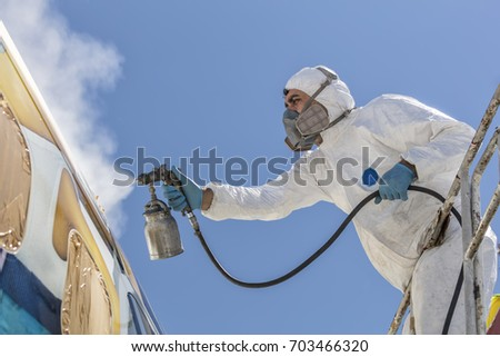 Sandblasting stock images royalty free images vectors for Sandblasting and painting