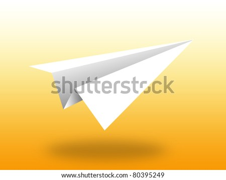 Aircraft paper vector background alone orange