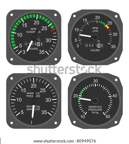 Aircraft tachometer manifold pressure gauge stock illustration aircraft tachometer and manifold pressure gauge thecheapjerseys Choice Image