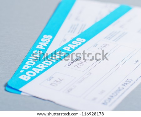 Airline Boarding Pass - stock photo