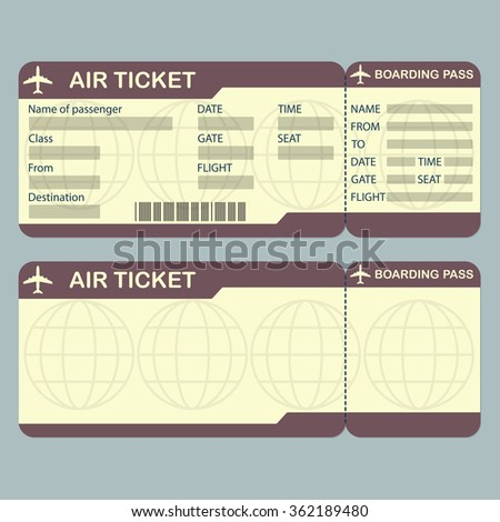Vector Movie Ticket Wedding Invitation Design Stock Vector