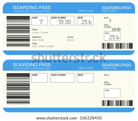 Airline boarding pass tickets - stock photo