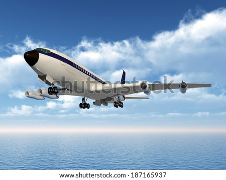 Airliner Computer generated 3D illustration